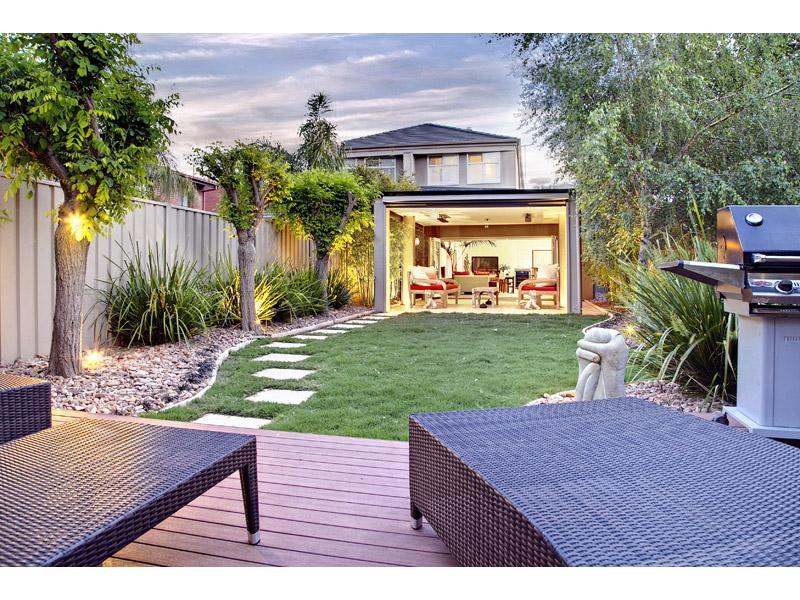 Landcaped Backyard